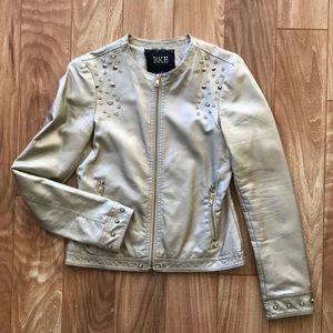 BKE champagne gold Moto jacket